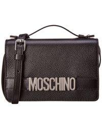 Moschino - Logo Leather Satchel - Lyst