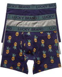 Lucky Brand - 3pk Boxer Briefs - Lyst