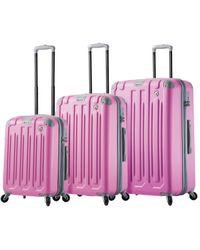 Mia Toro Italy Gelato 3 Piece Hardcase Luggage Set - Pink