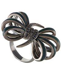 Stephen Webster - Silver & Rhodium Sapphire Ring - Lyst