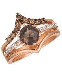 Le Vian ? 14k Strawberry Gold? 1.46 Ct. Tw. Diamond & Smoky Quartz Ring - Metallic