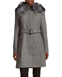 Michael Kors - Michael Kors Long Coat - Lyst