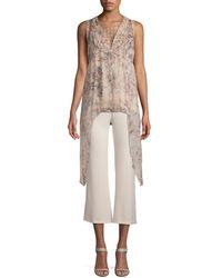Haute Hippie Silk Drape Top - Natural