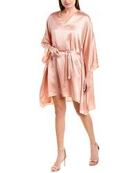 Max & Moi Silk Cape - Pink