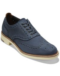 Cole Haan 7day Wing Oxford Leather Oxford - Blue