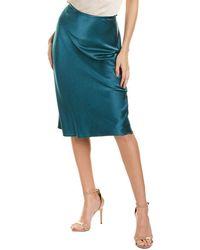 Black Halo Misha Midi Skirt - Green