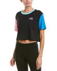 Nike Femme Crop Top - Black