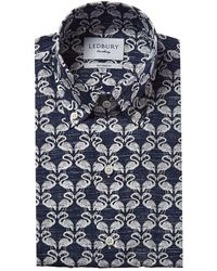 Ledbury Greenhaven Tailored Fit Dress Shirt - Blue