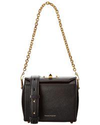 Alexander McQueen Box 19 Leather Shoulder Bag - Black