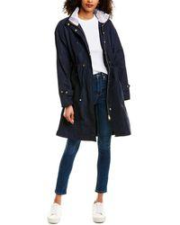 Barbour Harper Showerproof Long Rain Jacket - Blue