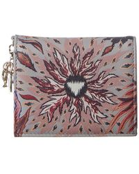 Dior Lady Nature Leather Wallet - Multicolour