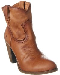 Frye Ilana Leather Bootie - Brown