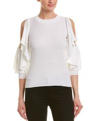 See By Chloé Cold-shoulder Sweater - White