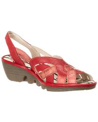 Fly London - Pima Leather Wedge Sandal - Lyst