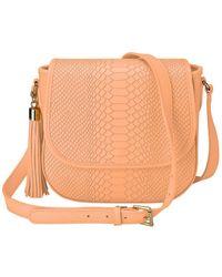 Gigi New York Kelly Python Crossbody - Orange