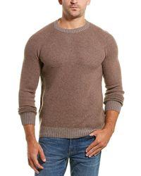 Benson Wool & Cashmere-blend Crewneck Jumper - Brown