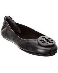 Tory Burch - Minnie Travel Leather Ballet Flat - Lyst