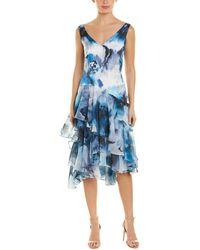 THEIA - Midi Dress - Lyst