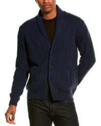 Corneliani Wool & Cashmere-blend Shawl Cardigan - Blue