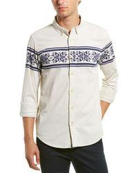 Scotch & Soda Corduroy Regular Fit Woven Shirt - White