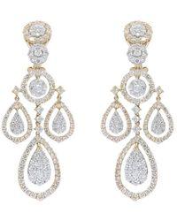 Diana M. Jewels . Fine Jewellery 18k Two-tone 7.80 Ct. Tw. Diamond Chandelier Earrings - Metallic