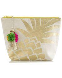 Shiraleah Pineapple Cosmetic Pouch - Metallic