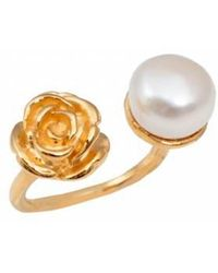 Leivan Kash - Rose White Pearl Ring - Lyst