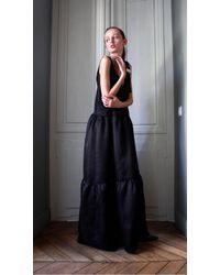 Plakinger - Silk Organza Maxi Dress With Tassels - Lyst