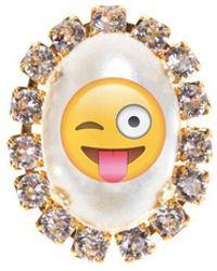 "Bijoux De Famille | ""fun Emoji"" Cabochon Pins | Lyst"