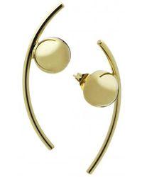 Caterina Zangrando | Gold Cactus Earrings | Lyst