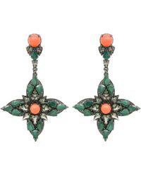 Ellen Conde - Green Joline Drop Earrings - Lyst