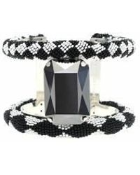 Forest Of Chintz | Black & White Quadrilateral Cuff | Lyst