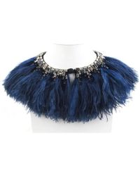Forest Of Chintz - Jewelled Plume Capelet - Lyst