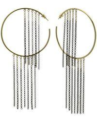 Caterina Zangrando | Gold And Ruthenium Nettle Earrings | Lyst