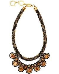 Forest Of Chintz - Crystal Camouflage Necklace - Lyst