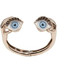 Bernard Delettrez - Blue Eyes Bronze Cuff - Lyst