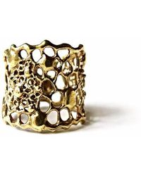 Ayaka Nishi - Gold Tapered Cell Ring - Lyst