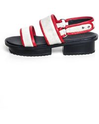 Jamie Wei Huang - Nibbana White And Red Leather Sandal - Lyst