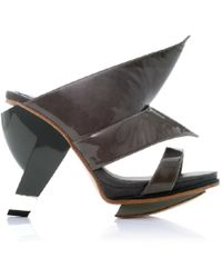 Abcense - Sian Charcoal High Heel Mule - Lyst