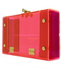 Nadia Gabriella - Ella Neon Pink Acrylic Clutch - Lyst