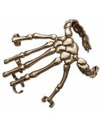 Bernard Delettrez - Silver Skeleton Hand Full Hand Cuff Bracelet - Lyst