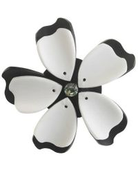 Forest Of Chintz - Black And White Flower Brooch - Lyst