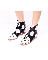 Zoe Lee | Pois Printed Lamb Thibodaux Shoes | Lyst