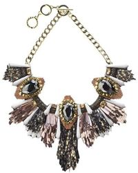 Forest Of Chintz | Disco Jungle Pink Bronze Fringe Necklace | Lyst