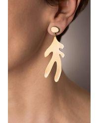 Hissia - Sirena Asymetric Gold Earrings - Lyst
