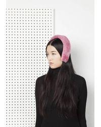 Onar - Cleo Merino Lamb Fur Headband - Begonia Pink - Lyst