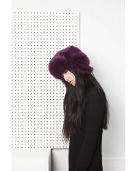 Onar | Glass Fur Hat - Purple | Lyst