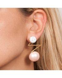 Leivan Kash | Acis Pink Pearl Earring | Lyst
