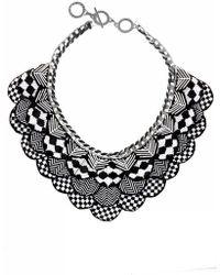 Forest Of Chintz | Black & White Nefertiti Necklace | Lyst