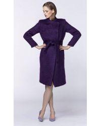 Plakinger | Asymmetric Mohair Coat | Lyst